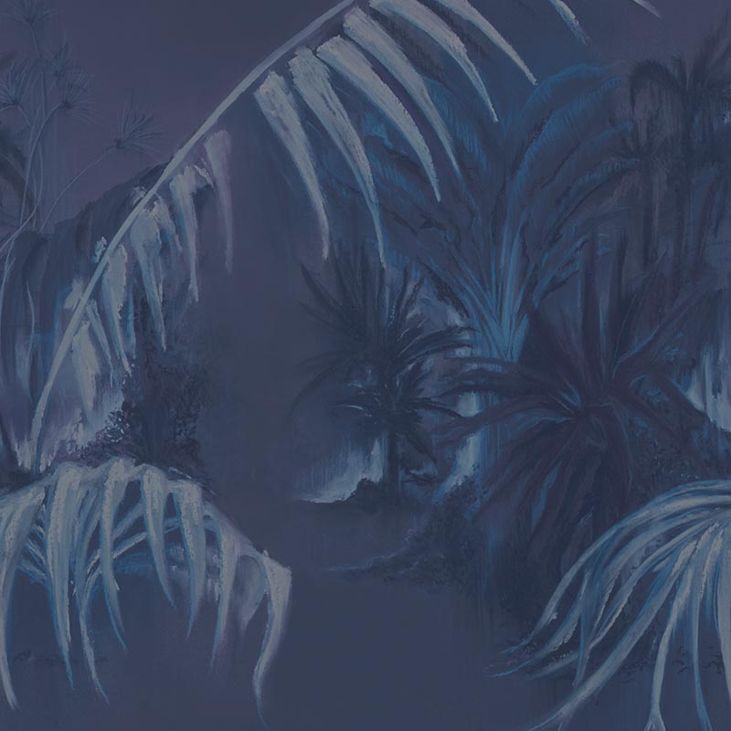Alex Blue by Robin Sprong at SARZA. Botanical, Danica Andler, Robin Sprong, Tropical, Wallpaper