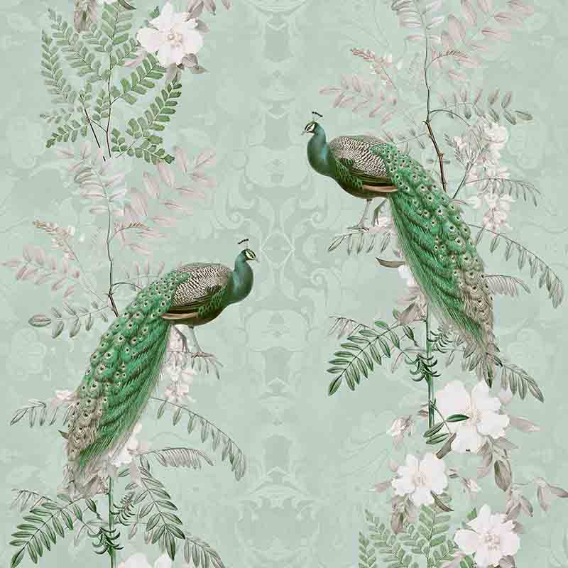 Chinoiserie Peacock Flowers – Royal