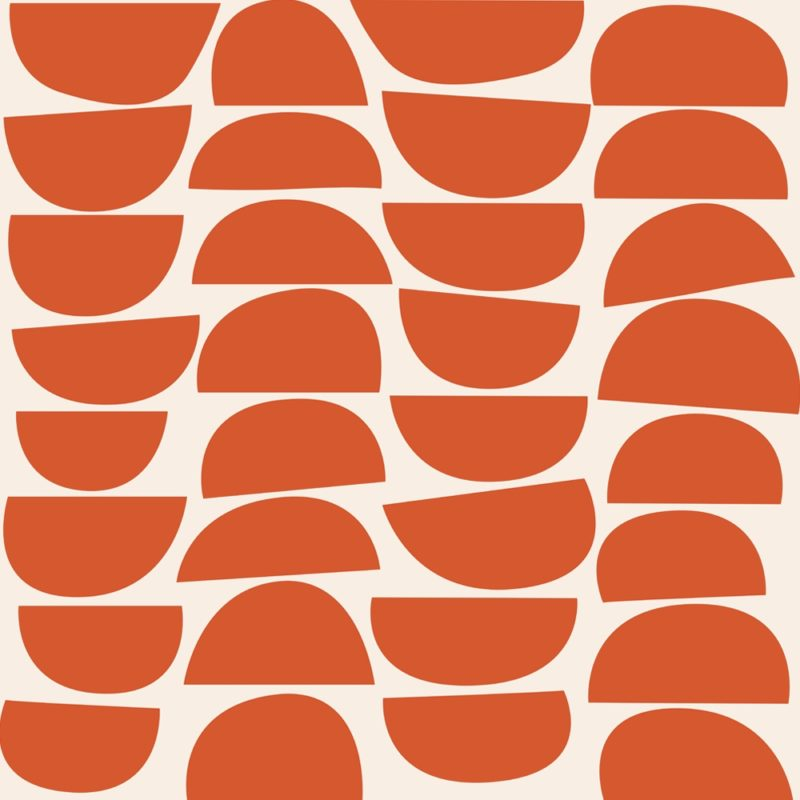 Bowls Persimmon by Robin Sprong at SARZA. Geometric, Robin Sprong, Skinny laMinx, Wallpaper