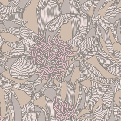 Bellissima – Terra by Robin Sprong at SARZA. Floral, Patricia Braune, Patricia Braune - Amalfi Lines Collection, Robin Sprong, Wallpaper