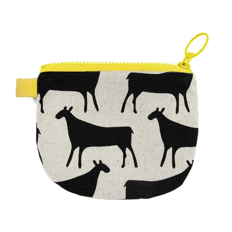 HERDS CHANGE PURSE by SKINNY LAMINX. A great little wallet or handy compartment for lipsticks and other bits & bobs. Lined with a pop of complementary colour and closes with a coordinating chunky YKK zip.