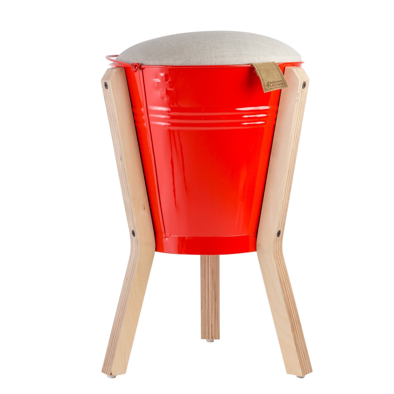 BUCKET STOOL RED