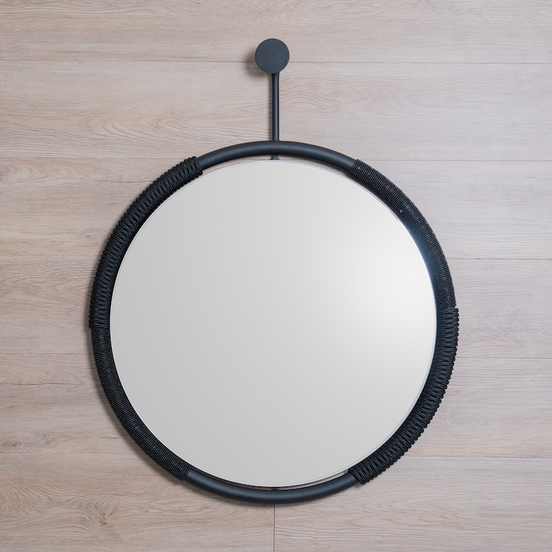 BUHLE MIRROR - BLACK by Arkivio at SARZA. Arkivio, black, buhle, homeware, mirrors, wall mirrors
