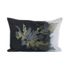 EVOLUTION PRODUCT USA NEW YORK CALLYMENIA EMBROIDERED CHARCOAL THROW PILLOW