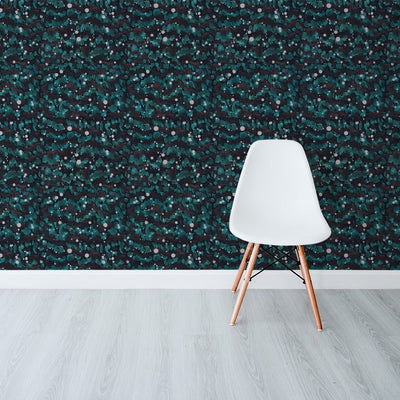 Rain Splatter Forest by Robin Sprong at SARZA. Abstract, Robin Sprong, Tiphaine Alston, Tiphaine Alston Cape Dutch Contrasts Collection, Wallpaper