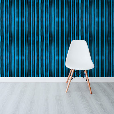 Washed Stripe Blue