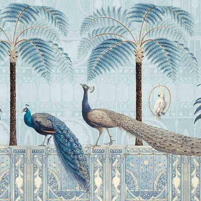 Chinoiserie Birds Palace – Diamond by Robin Sprong at SARZA. Andrea Haase, Botanical, Robin Sprong, Tropical, Wallpaper, Wildlife