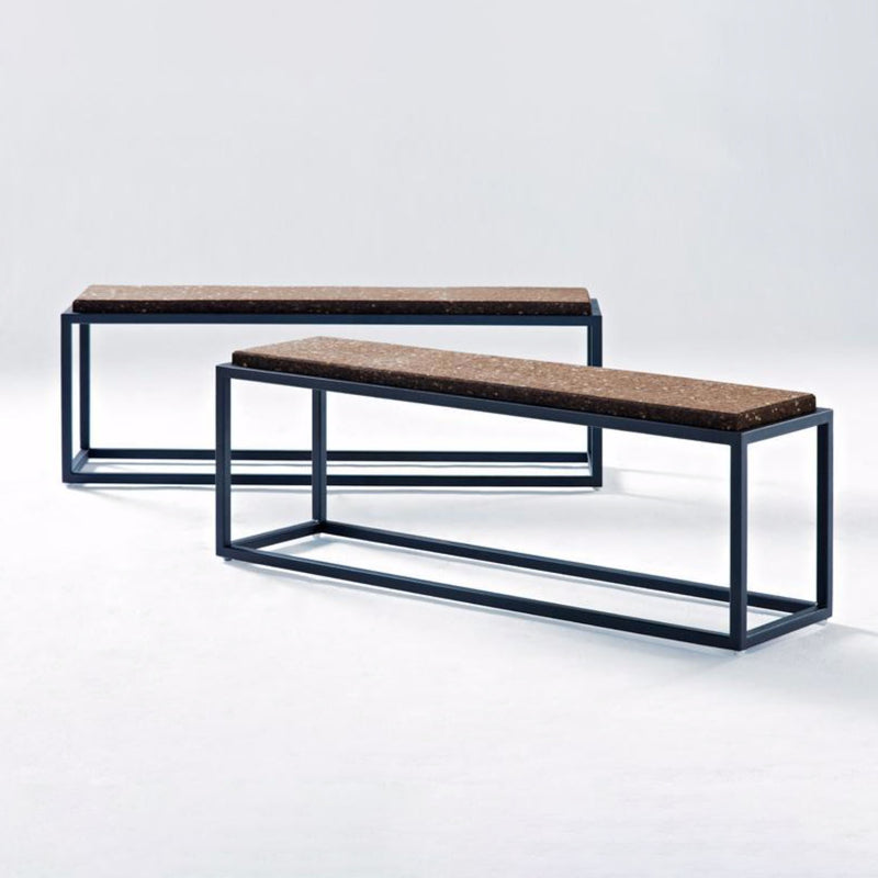 CORK & STEEL BENCH by Wiid Design at SARZA. Benches, cork, Furniture, Wiid Design