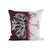 EVOLUTION PRODUCT USA NEW YORK CRYPTONEMIA EMBROIDERED PLUM THROW PILLOW