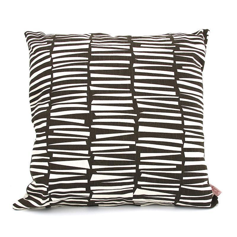 SKINNY LAMINX USA NEW YORK WOODPILE THROW PILLOW