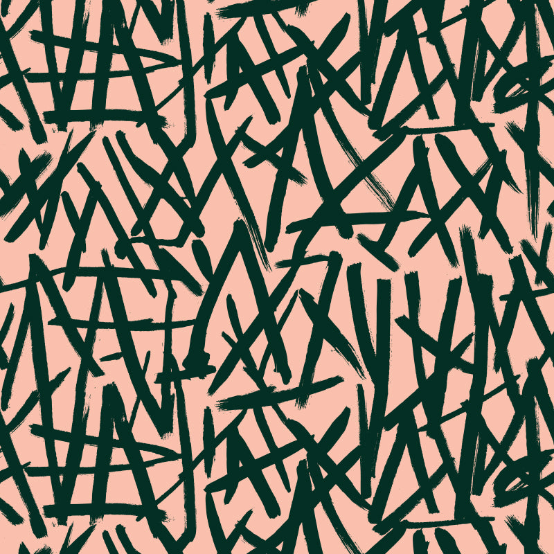 Brush on Colour Dark Green on Peach