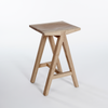 Dovetail Barstool by Meyer Von Wielligh. Part of the Dovetail Furniture Range, this barstool is made up in solid Ash or Iroko wood with subtly fluid lines.