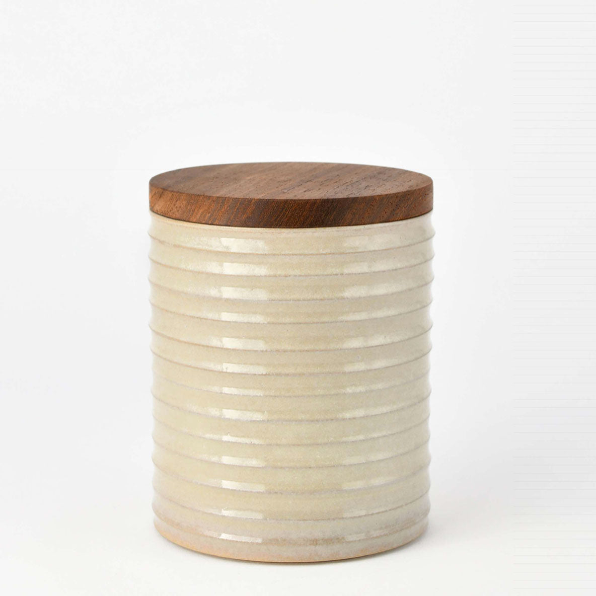 DRY GOODS JAR IVORY by Vorster & Braye at SARZA. ceramics, dry goods jars, homeware, Vorster&Braye