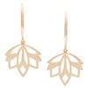 MINI MODEO EARRINGS-KIRSTEN GOSS JEWELRY. Delicate and feminine, these earrings are handcut from 18kt yellow gold vermeil.