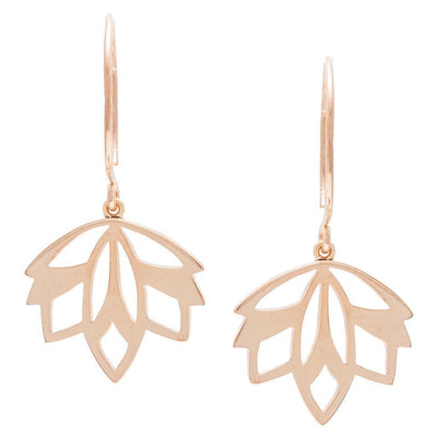 MINI MODEO EARRINGS-KIRSTEN GOSS JEWELRY. Delicate and feminine, these earrings are handcut from 18kt rose gold vermeil.