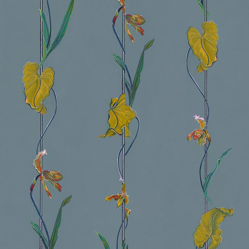 Ella Slate by Robin Sprong at SARZA. Botanical, Danica Andler, Robin Sprong, Wallpaper