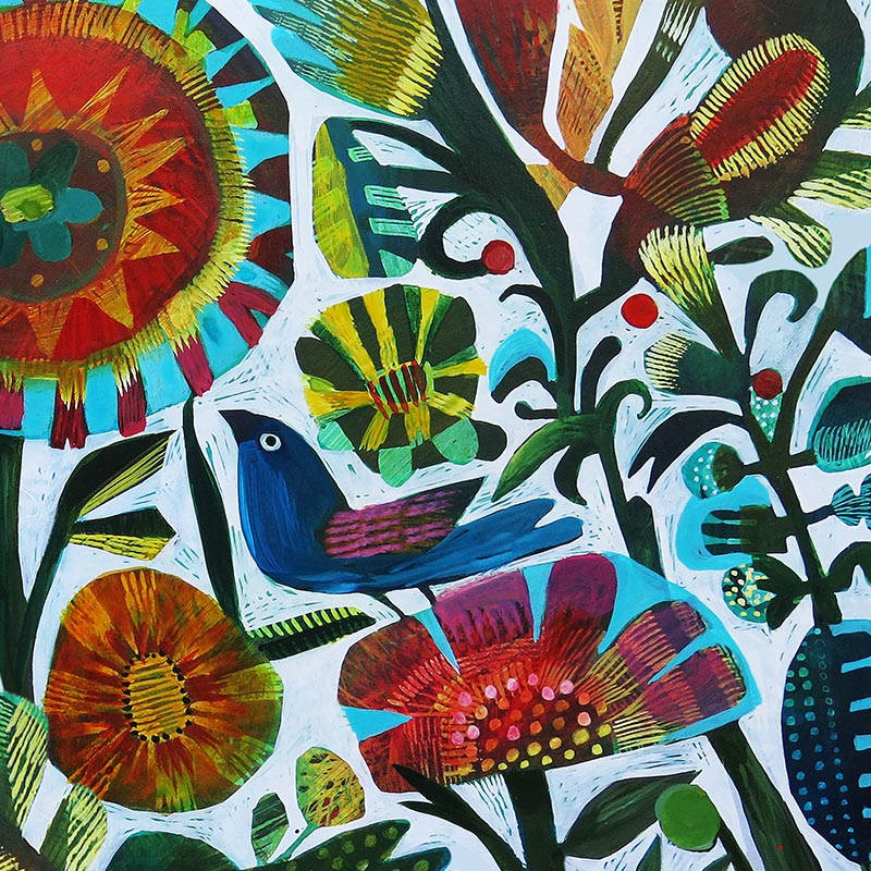 Mexican Colours by Robin Sprong at SARZA. Abstract, Botanical, Este Macleod, Floral, Robin Sprong, Wallpaper