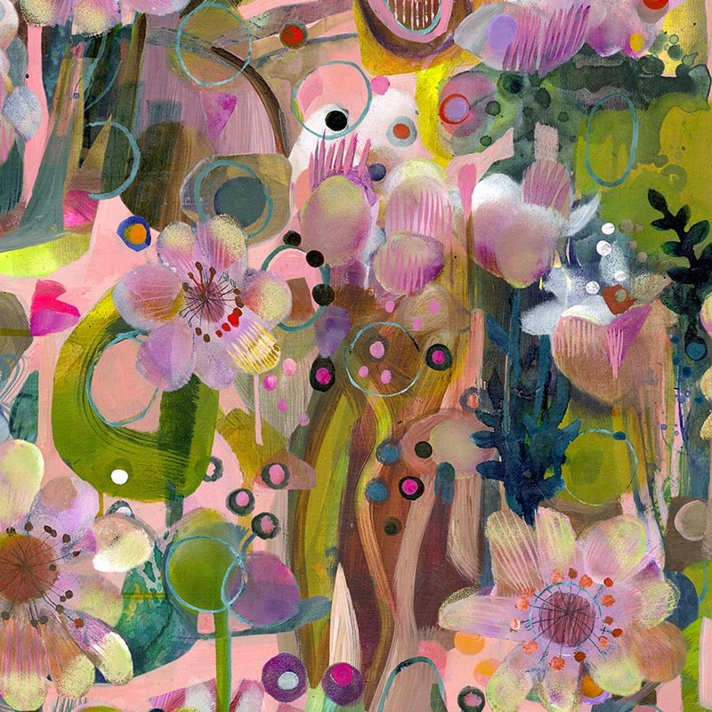 Blomsterdrom by Robin Sprong at SARZA. Abstract, Botanical, Este Macleod, Floral, Robin Sprong, Wallpaper