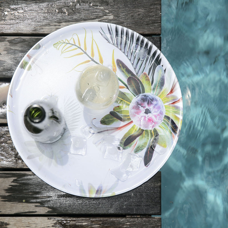 EXOTIC OASIS SERVING TRAY by Clinton Friedman at SARZA. Clinton Friedman, Exotic Oasis, homeware, melamine, serving trays, tableware