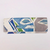 LALELA SCARF USA NEW YORK MAMA BLUE CLUTCH BAG
