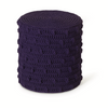ROBALA POPCORN CYLINDRICAL FOOTSTOOL -FIBRE DESIGNS. Hand-braided Popcorn Cylindrical Footstool from Verandah Collection is ideal for demanding domestic & commercial environments.