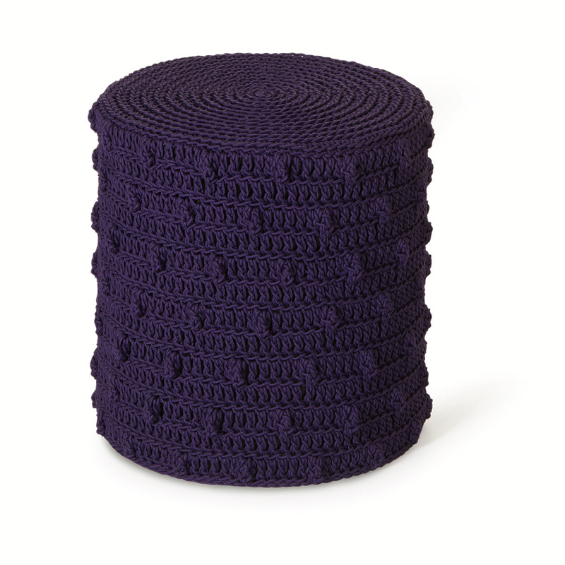 FIBRE DESIGNS USA NEW YORK ROBALA POPCORN CYLINDRICAL FOOTSTOOL