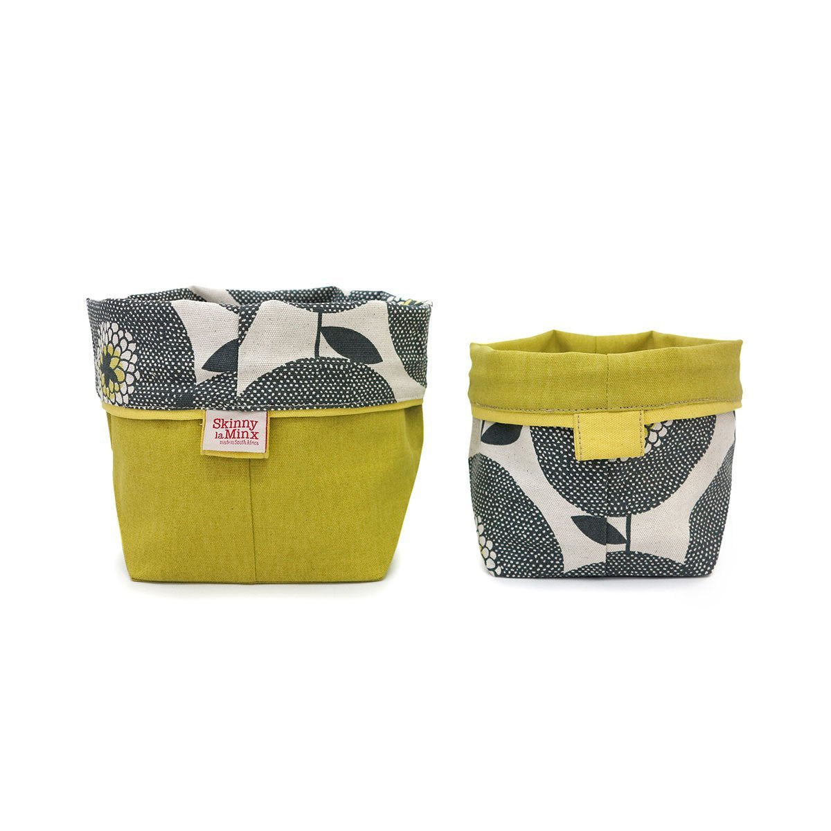 FLOWER FIELDS SOFT BUCKET by Skinny LaMinx at SARZA. containers, fabric, flower fields, holder, homeware, planter, planters, Skinny laMinx, soft bucket, soft buckets, storage