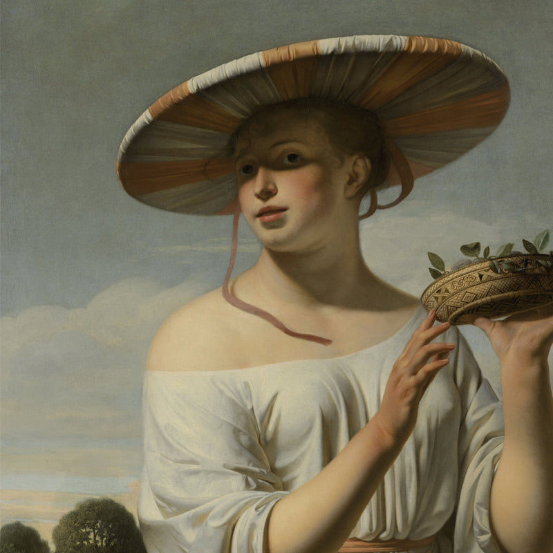 Girl with a Large Hat