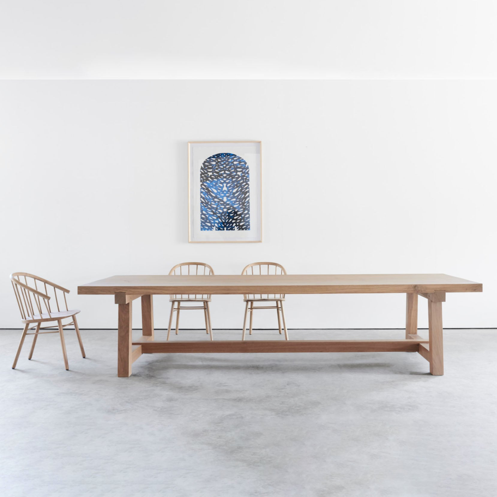 HARVEST FRENCH OAK DINING TABLE by James Mudge at SARZA. dining tables, French Oak, furniture, Harvest, James Mudge, tables