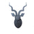 KUDU TROPHY HEAD IN CHARCOAL SUEDE by Head on Design at SARZA. birch ply, decor, head, head on design, Kudu, leather, suede, wall art, Wall sculptures