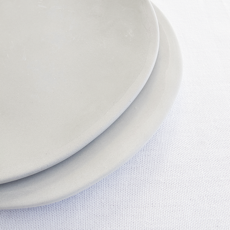 EVERY DAY RANGE GREY CERAMIC PLATE by Klomp Ceramics. Make everyday dining unique with this handmade grey stoneware everyday collection. Glazed on top, with an unglazed rim and underneath.