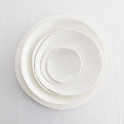 EVERY DAY RANGE WHITE CERAMIC BOWL by Klomp Ceramics at SARZA. bowls, ceramics, everyday range, KLOMP, tableware, white