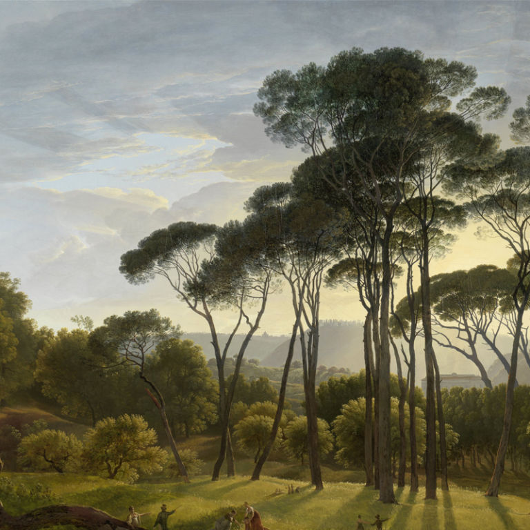 Italian Landscape with Umbrella Pines