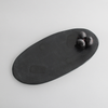 BLACK AS NIGHT PLATTER by Klomp Ceramics at SARZA. black, black as night, ceramics, klomp, platter, platters, serving bowls, serving plates, tableware