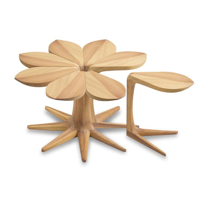 Loves Me Loves Me Not Table by Vogel Furniture Design. This unique wooden statement table is available as a 1 piece or 8 piece and in a selection of timber options.