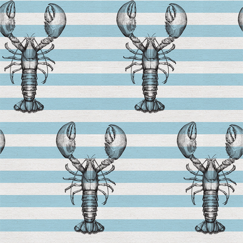 Lobster On Stripes – Sea Green