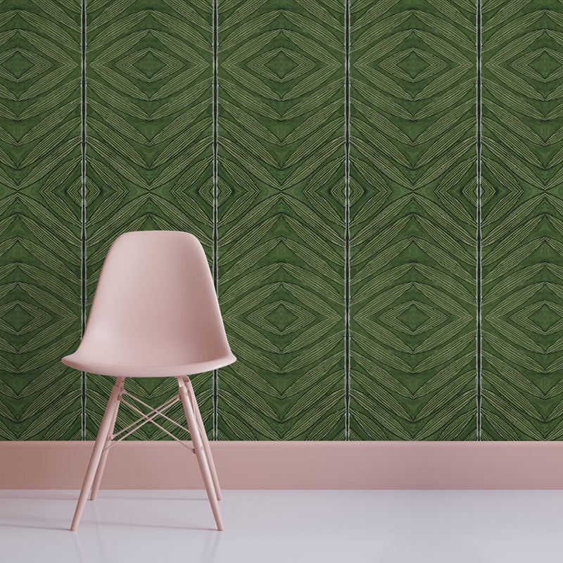 Green Palm Leaf by Robin Sprong at SARZA. Geometric, Louise Hunt, Robin Sprong, Wallpaper