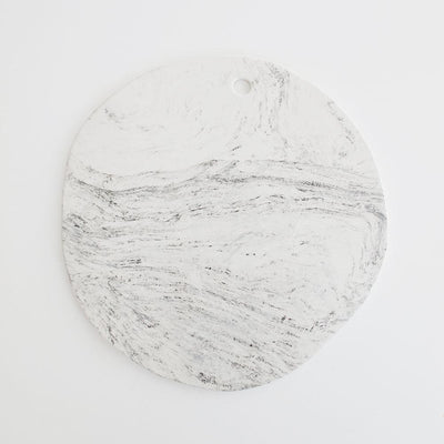MARBLE SERVING BOARD by Klomp Ceramics. A marbled black, white and grey stoneware serving board.Clear glazed on top, unglazed underneath.