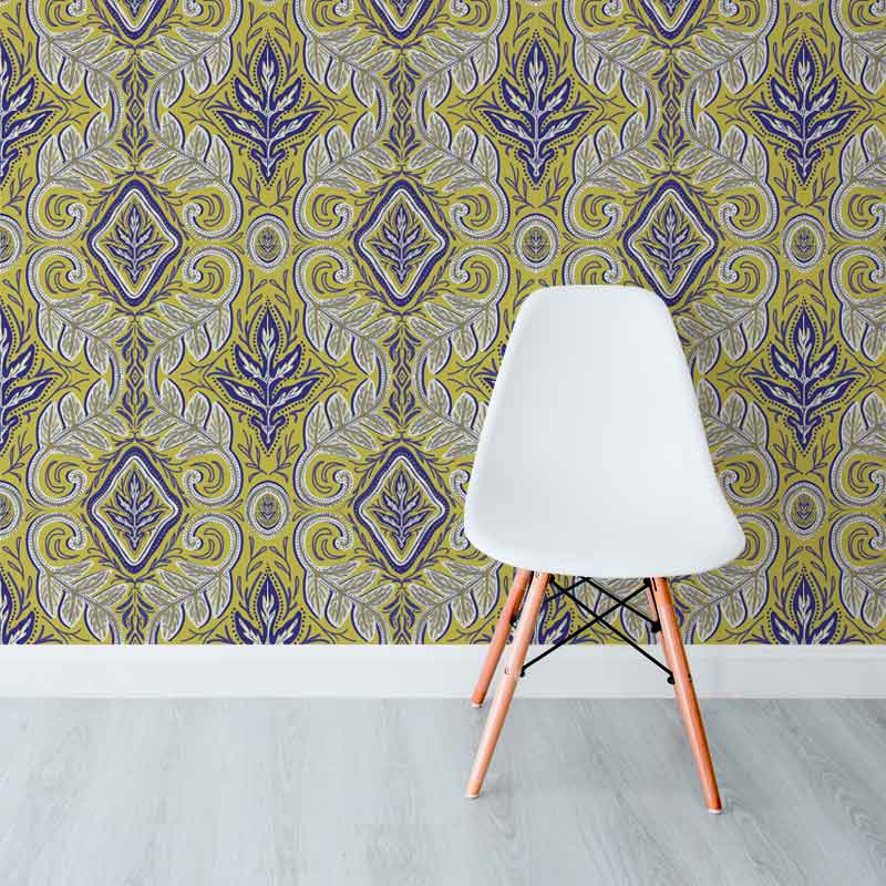 Acanthus-Palace Olive by Robin Sprong at SARZA. Abstract, Endryko Karmadi, Robin Sprong, Wallpaper