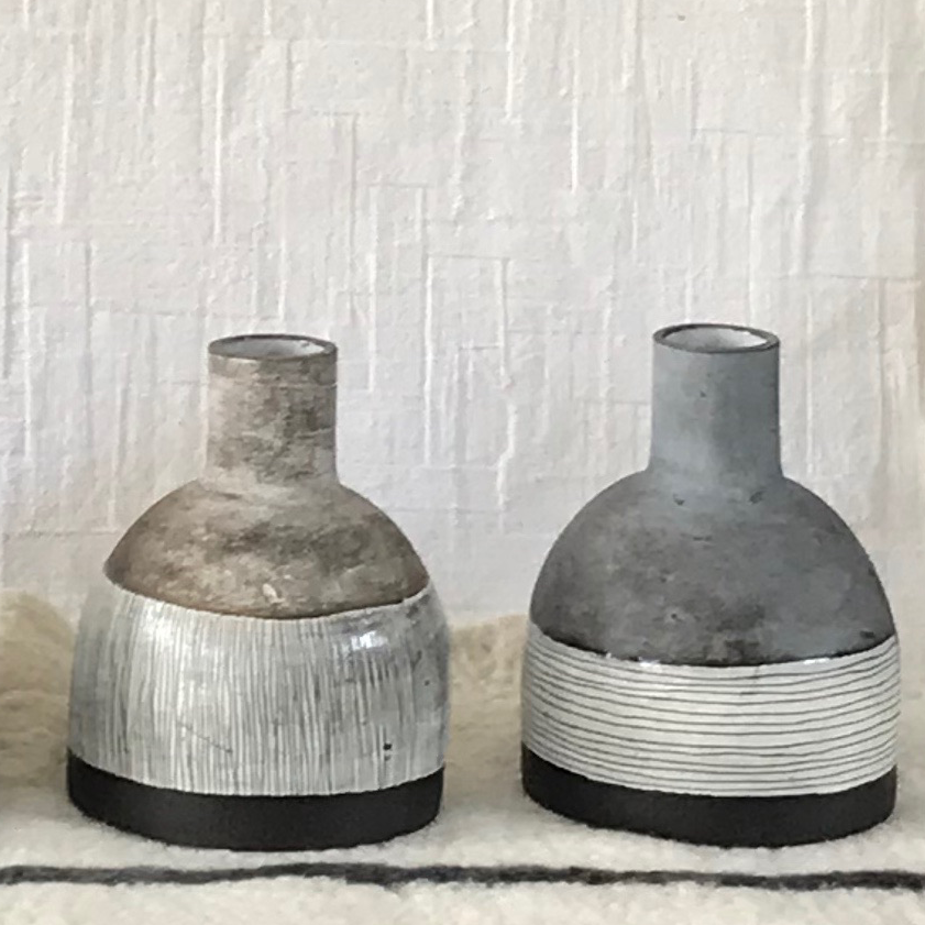 CERAMIC ORB VASE NATURAL EARTH COLLECTION by Helen Vaughan Ceramics at SARZA. Ceramics, decor, handles, Helen Vaughan, Homeware, Natural earth Collection, Orb Vases, Vases