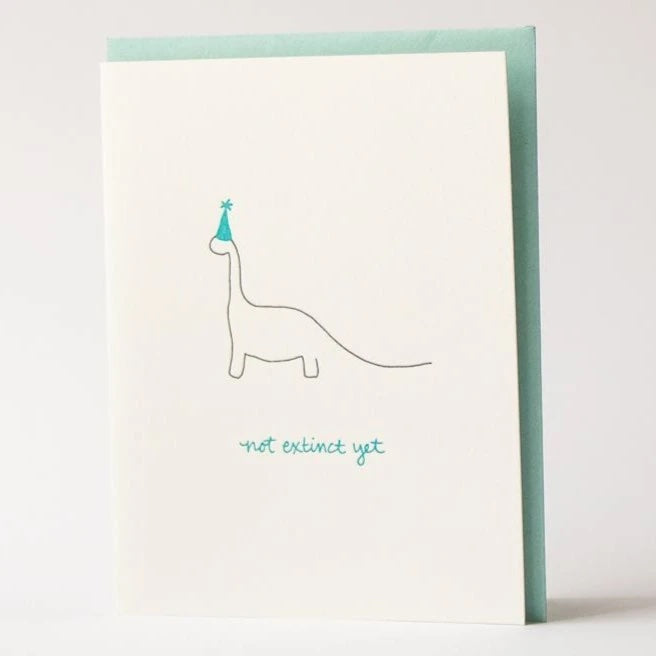 NOT EXTINCT YET by Albertine Press at SARZA. birthday cards, cards, gift cards, gifting, greeting cards, Not Extinct Yet, stationery