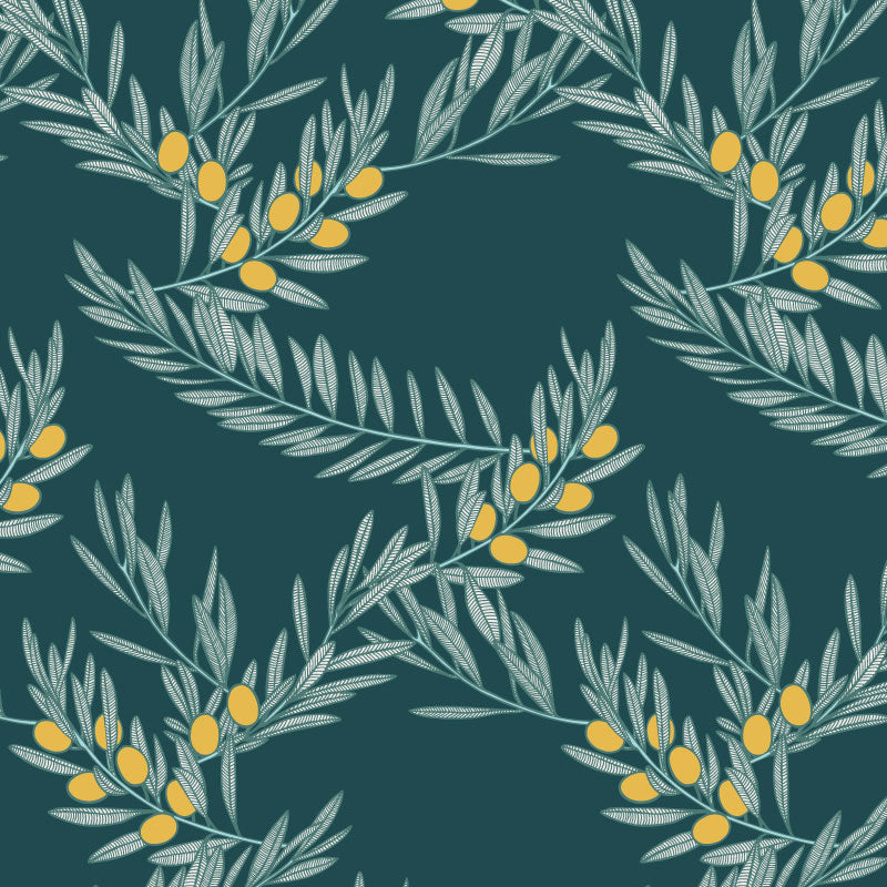 Olivia – Oro by Robin Sprong at SARZA. Botanical, Patricia Braune, Patricia Braune - Amalfi Lines Collection, Robin Sprong, Wallpaper
