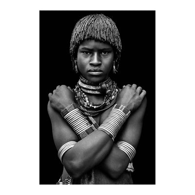 OMO_05 BY DAVID BALLAM PHOTOGRAPHY. Hamer woman ll, Omo Valley, Ethiopia This artwork is from the Omo Collection. With traditional customs & beliefs the people of the Omo Valley are beautifully unique.