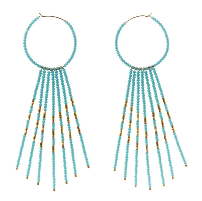 PORCUPINE EARRINGS - TURQUOISE & GOLD