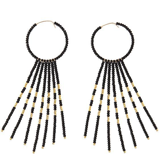 PORCUPINE EARRINGS - BLACK & GOLD by Sidai Designs at SARZA. earrings, exquisite details, jewellery, jewelry, porcupine, Sidai Designs