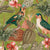 Parrots with Orchids and Hibiscus in Jungle – Orange by Robin Sprong at SARZA. Botanical, Floral, Robin Sprong, Tropical, Uta Naumann, Wallpaper, Wildlife