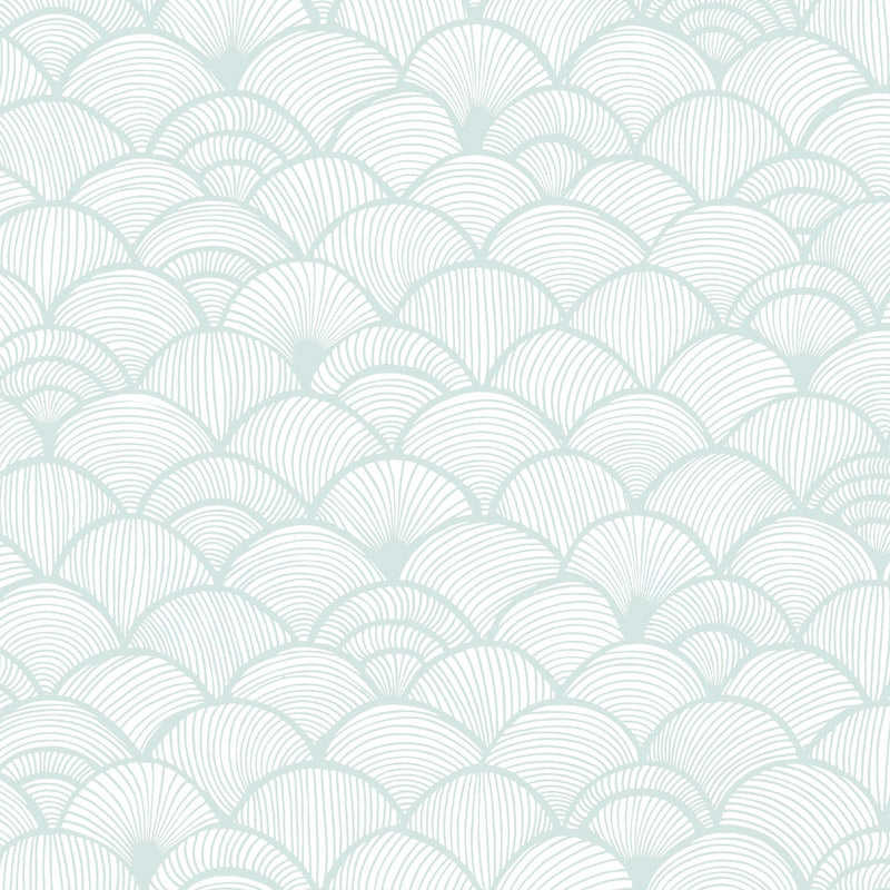 Scales Grande Silver by Robin Sprong at SARZA. Abstract, Geometric, Patricia Braune, Robin Sprong, Wallpaper