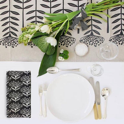 TALL PROTEA TABLE RUNNER by Skinny LaMinx at SARZA. linens, runner, runners, Skinny laMinx, table runner, table runners, tableware, tall protea