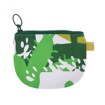 ROOF GARDEN CHANGE PURSE by SKINNY LAMINX. A great little wallet or handy compartment for lipsticks & other bits & bobs. Lined with a pop of complementary color and closes with a coordinating chunky YKK zip.