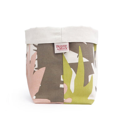 ROOF GARDEN SOFT BUCKET by SKINNY LAMINX. Use as a planter or to hold a variety of things such as hair accessories, baked goods etc. Designed and made in Cape Town, South Africa.